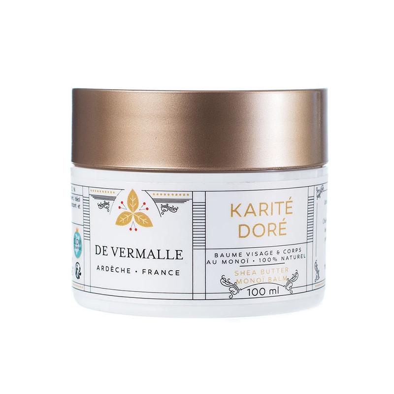 KARITE DORE De Vermalle- Baume douceur au Karité et Monoï - 100 ml