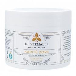 KARITE DORE De Vermalle - Baume douceur au Karité et Monoï - 500 ml