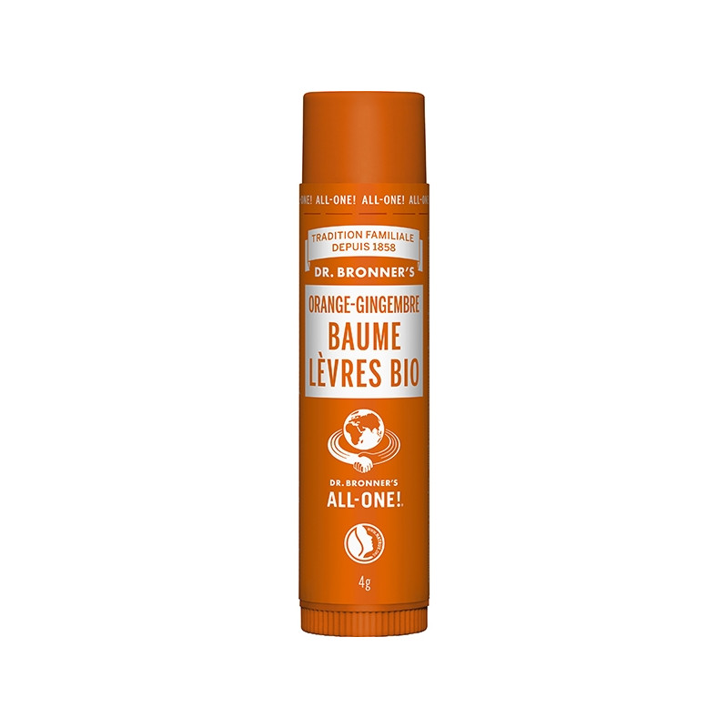 Baume à Lèvres Bio Orange-Gingembre