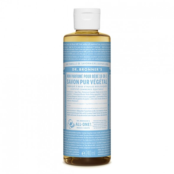 Savon liquide Doux pour Bébé - 236 ml Dr Bronner