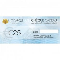 Chèque Cadeau Beauté Naturelle 25€