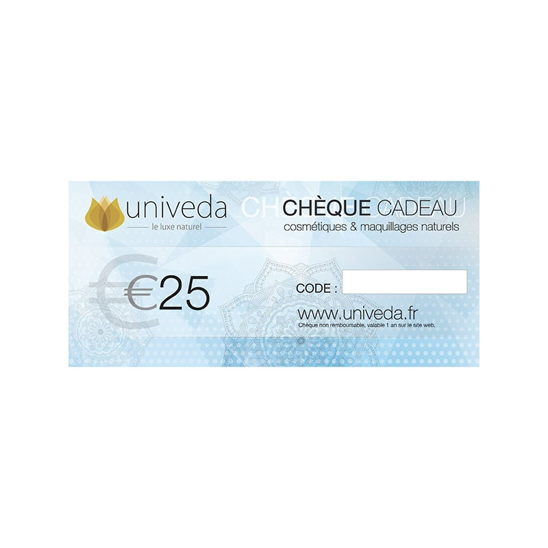 Chèque cadeau 25€