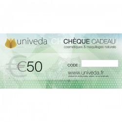 Chèque Cadeau Cosmétiques 50€