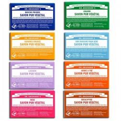 Collection de savons naturels Dr Bronner