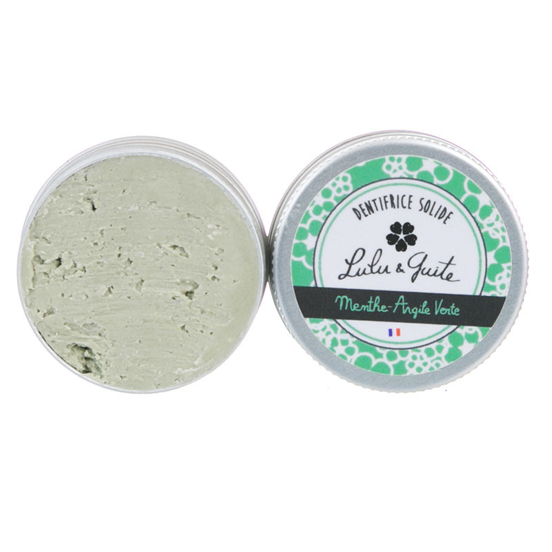 Dentifrice Solide Menthe-Argile Verte