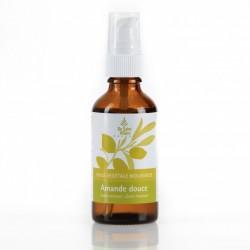 Huile Végétale Biologique d'Amande Douce hydratante pour peaux fragiles et sensibles, corps et cheveux