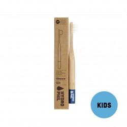 Brosse à dents pour enfant durable en bambou - Bleu