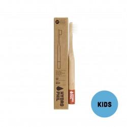 Brosse à dents pour enfant durable en bambou - Rouge