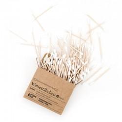 Bâtonnets ouatés en bambou et coton bio - 100 unités