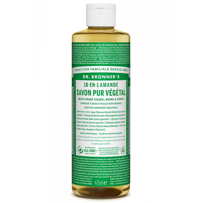 Savon Liquide Bio Amande Dr Bronner- 473 mL