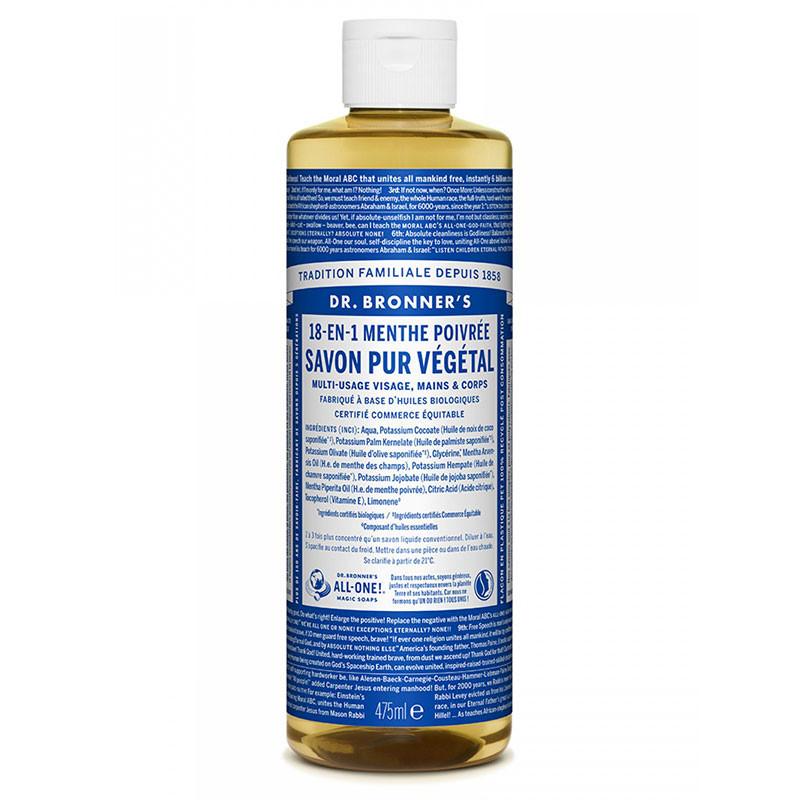 Savon liquide bio Menthe Poivrée - 473 ml dr bronner
