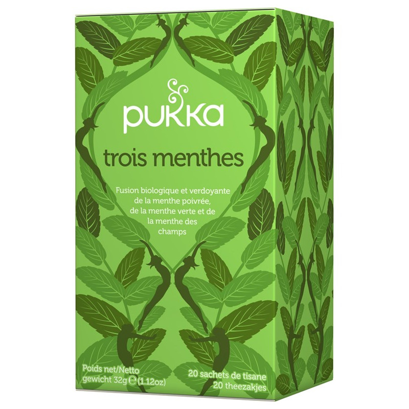 Tisane THREE MINT de Pukka
