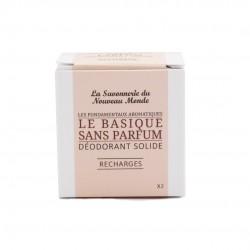 2 Recharges du Déodorant Solide LE BASIQUE sans parfum