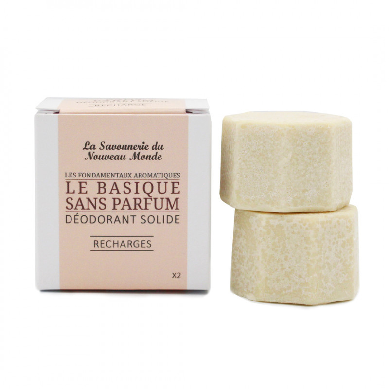 Recharges Déodorant Zéro déchet LE BASIQUE sans parfum
