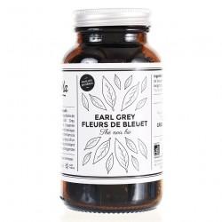 Thé noir bio Earl Grey Fleurs de bleuet - bocal en verre