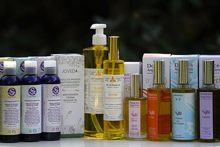 huiles corps cosmétiques naturels